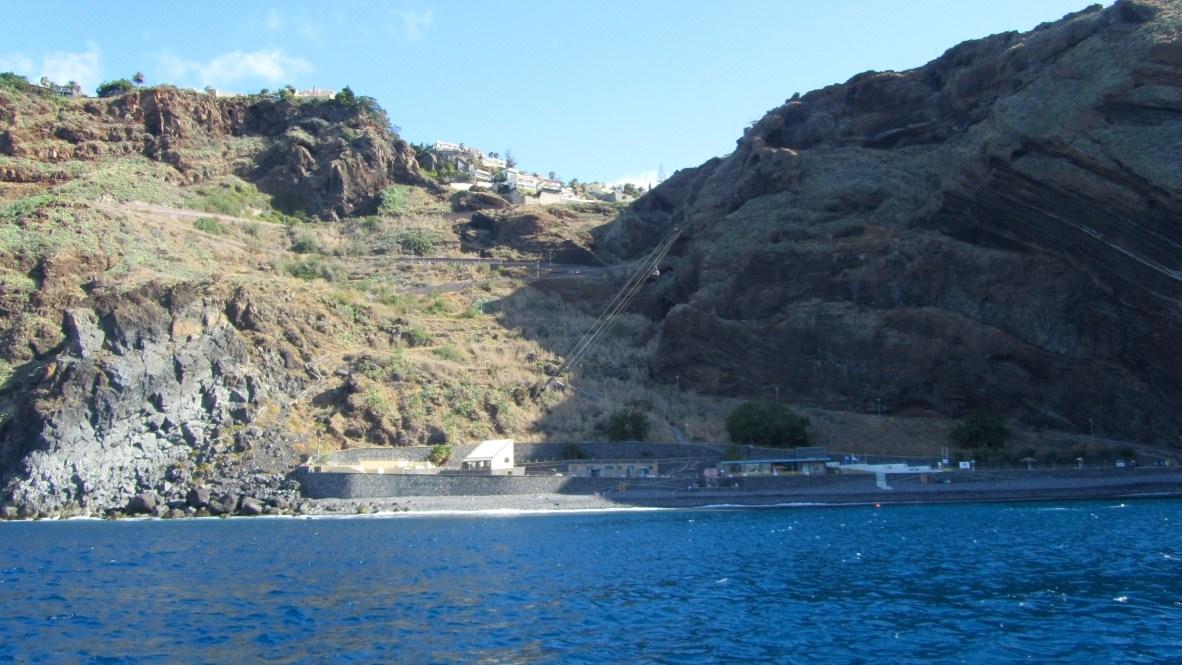 Playa de Garajau desde el mar