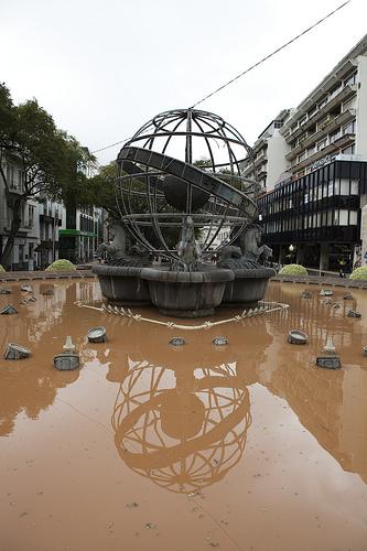 Funchal tras inundaciones 2010. Foto Rui Pestana