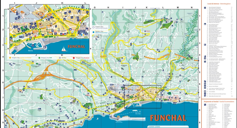 Mapa Funchal www.madeiraparaviajeros.com
