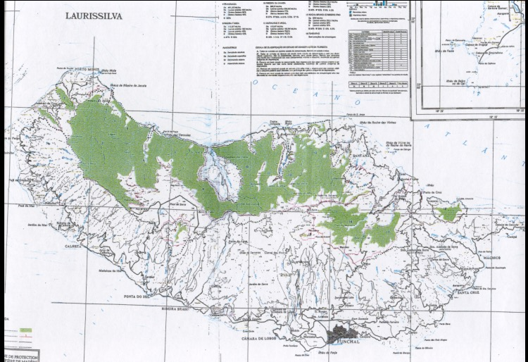 Zonas protegidas de Madeira. Fuente: UNESCO