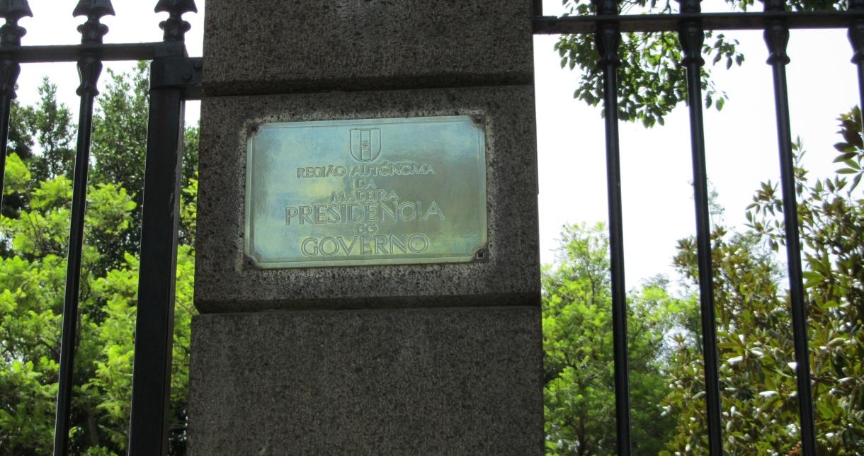 Entrada a la Residencia Presidencial de Madeira